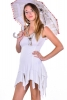 Pixie Dress, Psy Trance Clothing, Burning Man Clubbing Dress in White - Jaya Dress (RFJAYA) by Altshop UK