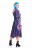 African Dashiki Dress, Angelina Tribal Print Long-Sleeve Dress in Purple - Oba Dress (RFOBAD) by Altshop UK