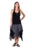 Pagan Wiccan Hippy Goddess Lace Layered Skirt in Black - Three Layer Skirt (RFTHLAS) by Altshop UK