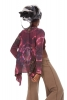 Tie Dye Hippy Summer Festival Cardigan in Dark Pink - Tie Dye Jacket (RKTIED) by Altshop UK