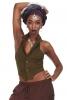 Steampunk Backless Sacred Geometry FOL Waistcoat in Army Green - Steampunk Vest (RMSTEMV) by Altshop UK