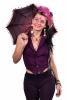 Steampunk Backless Sacred Geometry FOL Waistcoat in Purple - Steampunk Vest (RMSTEMV) by Altshop UK