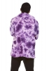 Mens Tie Dye Hoodie, Hippie Boho Kurta in Purple - Tie Dye Kurta (RMTDKA) by Altshop UK