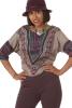 African Batwing Crop Top, Hippy Cropped Dashiki Teeshirt in Grey - African Batwing Blouse (ROKAFBL) by Altshop UK