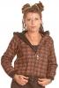 Blockprint Hoodie with Large Hood in Brown - Block Hoodie (ROKBLOC) by Altshop UK