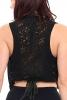 Mottled Mini Summer Waistcoat in Black - Burnout Waistcoat (ROKBURW) by Altshop UK
