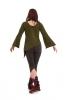 Assym long sleeve pixie top in Army - Cutneck Top (ROKCUTN) by Altshop UK