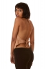 Backless Cowl Neck Psy Top in Beige - 4String Top (ROKFOUR) by Altshop UK