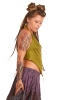 Backless Cowl Neck Psy Top in Green - 4String Top (ROKFOUR) by Altshop UK