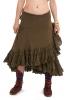 Jute and Lace Boho Wrap Skirt in Green - Jute Lucy Skirt (ROKJLWR) by Altshop UK
