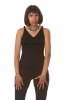 Cross Back Yoga Sports Tank Top in Black - Martina Top (ROKMARR) by Altshop UK
