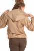 Simple Beige Satin Ladies Hoodie - Brocade Hoodie (ROKPBH) by Altshop UK