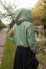 Sparkly Fairy Sequin Rave Hoodie in Green Shimmer - Fairy Hoodie (ROKPFAE) by Altshop UK