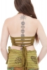 Stretch Cotton Yoga Bra, Hippy Yoga Bralette in Green - Plain Wrap Top (ROKPLAW) by Altshop UK