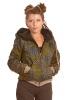 Ladies Geometric Print Jacket in Green - Print Hoodie (ROKPPH) by Altshop UK