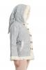 Pixie Hooded Coat with Fur Trim in Blue - Woodland Hoodie (ROKPWH) by Altshop UK