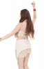 Backless Jute Mini Top in Ivory - Jute Raw Top (ROKRAW) by Altshop UK