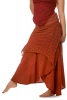 Jute and Lace Long Layered Goa Skirt in Orange - Seelie Skirt (ROKSELS) by Altshop UK