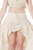 Jute and Lace Boho High Low Skirt in Ivory - Shakti Skirt (ROKSHAK) by Altshop UK