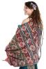 Oversize Boho Blanket Scarf, Large Hippy Shawl Scarf in Ikat - Rocky Shawl (ROKSHAW) by Altshop UK