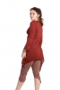 Pixie 2 Point Tunic Top in Red - 2 Point Top (ROKTWOP) by Altshop UK