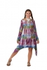 Oversize Hippy Tie Dye Dress in Multi - 2 Point Dress Top Tiedye (ROKTWOP2) by Altshop UK