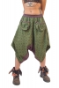 Hippy Harem Pants with Front Pockets in Green - Cathay Ali Babas (RZCATA) by Altshop UK