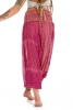 Embroidered Harem Pants, One-Off Ooak Bellydance Trousers in Pink - Poetry Ali Babas (SDALIS) by Living Poetry