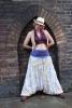 Sheer Beaded Seethrough Bellydance Harem Fairy Trousers in White - Poetry Ali Babas (SDALIS) by Altshop UK