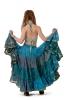 25 Yard Gypsy Bellydance Skirt, tribal fusion dance skirt in Turquoise - Siddartha Skirt (SDBESK) by Altshop UK