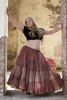 XL Belly Dance Skirt, plus size hippy boho Gypsy skirt in Earth Mother - Plus Size Siddartha Skirt (SDBESK) by Altshop UK