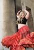 XL Belly Dance Skirt, plus size hippy boho Gypsy skirt in Flamingo - Plus Size Siddartha Skirt (SDBESK) by Altshop UK