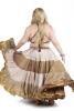 XL Belly Dance Skirt, plus size hippy boho Gypsy skirt in Honey - Plus Size Siddartha Skirt (SDBESK) by Altshop UK