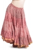 XL Belly Dance Skirt, plus size hippy boho Gypsy skirt in Pink Rose - Plus Size Siddartha Skirt (SDBESK) by Altshop UK