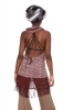 Hooded Cowl Dress, Cowl Neck Psy Trance Dress in Pink Flowers - Suresh Dress (SGSURDR) by Altshop UK