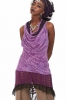 Hooded Cowl Dress, Cowl Neck Psy Trance Dress in Lilac - Suresh Dress (SGSURDR) by Altshop UK