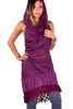 Hooded Cowl Dress, Cowl Neck Psy Trance Dress in Magenta - Suresh Dress (SGSURDR) by Altshop UK