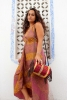 Banjara Hippy Bag, Boho Banjara Handbag in Red and Gold - Round Bag B (SOHARB) by Living Poetry