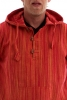 MENS STRIPED HIPPY SUMMER HOODIE TOP - Bright Stripe