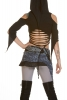 Grey Mori Kei Miniskirt, Psy Trance Mini Skirt in Leopard - Jay Skirt (SURJAY) by Altshop UK