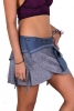 Psy Trance Mini Skirt, Pixie EDM Skirt in Grey - Jersey Skirt (SURJERS) by Altshop UK