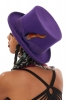 100% Wool Felt Top Hat for Ladies/Men in Purple - Maz Top Hat (TH301) by Maz