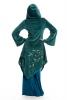 Velvet Faery Goddess Jacket, boho Goa psytrance coat - Teal - TJK294 by Altshop UK