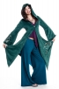 Velvet Faery Goddess Jacket, boho Goa psytrance coat - Teal - TJK294 by Altshop UK