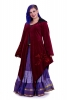 Velvet Faery Goddess Jacket, Boho Goa Psytrance Coat in Burgundy - Hecate Coat (TJK294) by Altshop UK