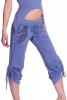 Organic Cotton Yoga Pants, Feather Print Lounge Trousers in Cornflower - Feather Trousers (TLP204) by Altshop UK