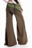 Comfy Flow Pants With Extra Wide Flare - Khaki - TLP224