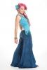 Velvet Flow Pants, extra-wide long bellydance trousers in Blue - Velvet Flow Pants (TLP224V) by Altshop UK
