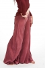 Velvet Flow Pants, extra-wide long bellydance trousers in Pink - Velvet Flow Pants (TLP224V) by Altshop UK