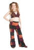 High Waist Velvet Patchwork Trousers in Autumn - Patchwork Trousers (TLP331) by Altshop UK